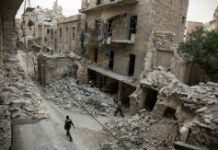 AFP / Karam Al-Masri More than 300 civilians have been killed in two weeks of fighting in the divided city of Aleppo