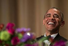 © AFP | US President Barack Obama poked fun at himself, the Democratic and Republican presidential candidates and reporters during the 102nd White House Correspondents' Association Dinner