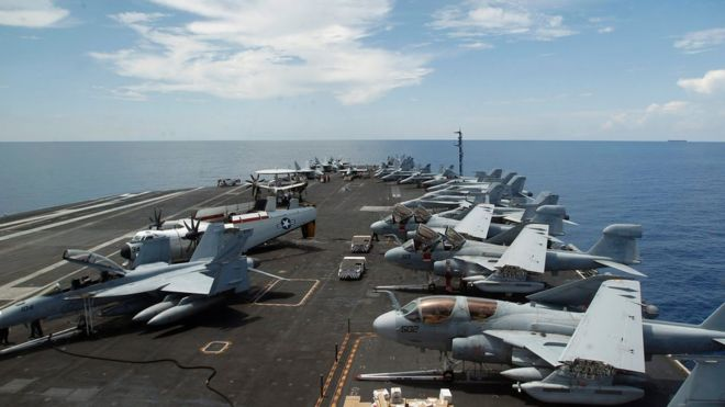 China has criticised US military activity in the region (file picture)