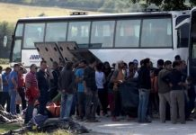 Buses will take the migrants and asylum seekers to better facilities