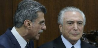 Romero Juca (left) is one of acting President Michel Temer's closest advisers