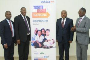 (L-R) Stephen Abban, Dolapo Ogundimu, AdedayoArowojolu and Ivan Avereyireh at the launch of Access Bank's bancassurance products