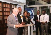 Ambassador Robert Jackson addressing the gathering
