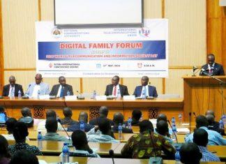 Dr. Edward Omane Boamah speaking at the NCA Digital Family Forum