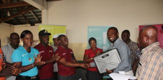 Presentation of Alco metre to the management of Achimota bus terminal