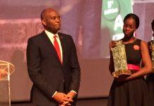 Tony Elumelu, UBA Group PLC Chairman receiving Life Time Achievement Award in Ivory Coast recently