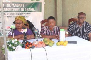Victoria Adongo, Programmes Director PFAG, Nana Ameyaw Menu, Vice President PFAG and Asiedu Biney, Regional Focal Person of PFAG for Brong Ahafo