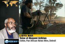 a Abayomi Azikiwe graphic on Libya War, 2011