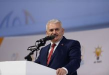 Binali Yildirim addresses his supporters at the congress of Turkish ruling Justice and Development Party in Ankara, Turkey on May 22, 2016. [Photo/Xinhua]