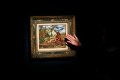 AFP/File / Kena Betancur A painting by Frida Kahlo, 'Two Nudes in the Forest (The Earth Itself)', has been sold in New York for a record $8 million, the highest price yet for any work by the iconic Mexican artist