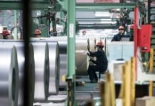 AFP/File / Fred Dufour China's industrial output rose 6.0% year-on-year in April, down from a 6.8% jump in March