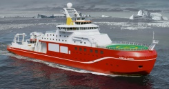 """NERC / HO/AFP/File The £200 million polar research ship will be named """"Sir David Attenborough"""""""