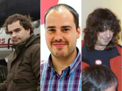 TWITTER/AFP/File (L to R) Spanish freelance journalists Angel Sastre, Antonio Pampliega and Jose Manuel Lopez were kidnapped in Syria about 10 months ago