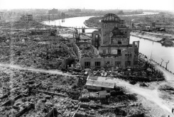 HIROSHIMA PEACE MEMORIAL MUSEUM/AFP/File The Japanese city of Hiroshima is shown three months after the atomic bomb was dropped by B-29 bomber Enola Gay in 1945