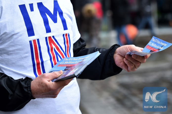 A campaigner with Britain Stronger in Europe, the official