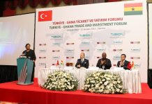 trade fair organized by Tudec İn Turkey For his Excellency the President John mahama and a delegation of renowned Business people