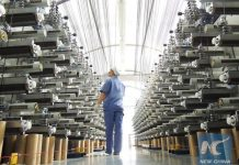 China's manufacturing sector expansion remains steady in May. [Photo/Xinhua]