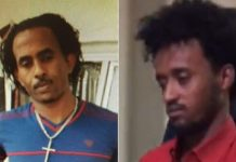 Left: An image of the man believed to be Mered Medhanie previously released by the UK National Crime Agency; Right: the man said to be to be Mered Medhanie who was extradited to Italy