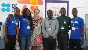 From left - Solomon Avemegah and Alice Amoako in a group photo with organisers