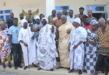 Osu Chiefs, priests, priestesses pouring libation