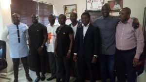 Nii Lantey Vanderpuye with Appiah and the Primeval team