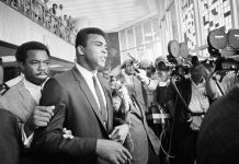 Muhammad Ali During Trial Over Resisting Draft, June 1967 in Houston