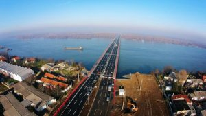 Aerial image of the Zemun-Borca Bridge. (Photo: China Road and Bridge Corporation)