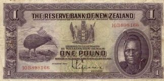 banknote-reserve-bank-new-zealand-1-pound-1934-maori-chief-kiwi-bird