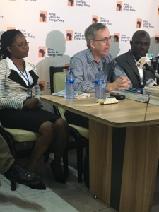 From left Linda Ahunu, Ian Gary and Boakye at the launch.
