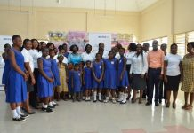 AWN Members with students and staff of the Tetteh Ocloo State School for the Deaf