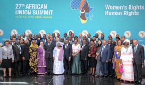 African Union 27 Session Participates, July 17-18, 2016