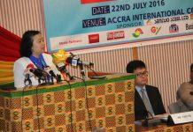 Chinese Ambassador to Ghana addressing the summit.