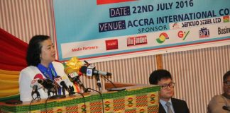 Chinese Ambassador to Ghana addressing the summit.