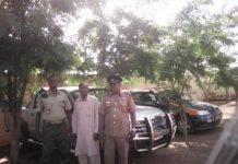 From right, U/E Regional Fire Commander, Assistant Chief Fire Officer, Douglas Koyire, Mr Abdul-Rahaman Abubakari, Forestry Driver, and Mr John Abu, Regional Station Officer.