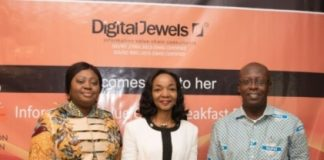 From left to right:, Abiola Bawuah, Chief Executive Officer of United Bank for Africa (UBA) Ghana; Chief Executive Officer of Digital Jewels, Adedoyin Odunfa; and Archie Hesse, CEO of Ghana Interbank Payment and Settlement System (GHIPSS)