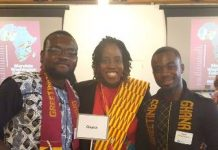 Josephine Marie Godwyll in the middle with other Ghanaian participants