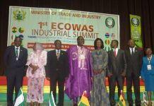 Dignitaries in a group photo at the ECOWAS Industrial Summit