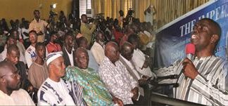 Scores of people turn out at the launch of the Free Gbagbo campaign