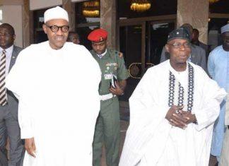 Ex-president Olusegun Obasanjo and President Muhammadu Buhari