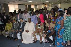 group  picture  with the  Minister   middle  after  the  opening  ceremony