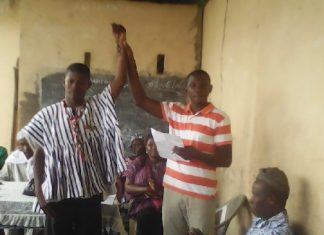 An officer of the Electoral Commission declaring, Mr Bukari, as the CPP Parliamentary Candidate for the Talensi Constituency