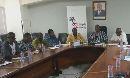 Members of the Portland Cement Monitoring Committee Members with the Minister of Trade