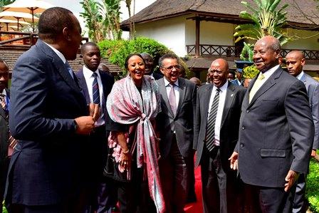 Museveni meets Uhuru - TICAD