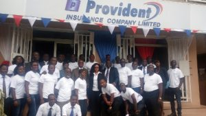 group picture of management of staff of Provident Insurance Company Limited.