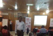 Dr Gordon Donnir, talking to participants