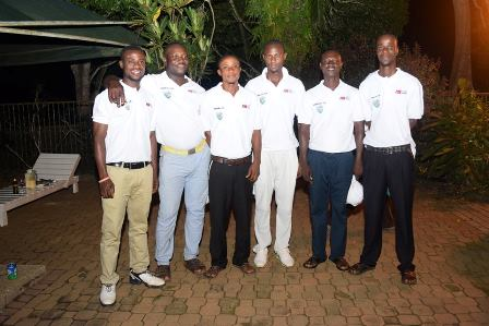 The six newly turned professional golfers