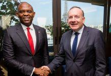 Tony Elumelu, Chairman of UBA PLC, and Pierre Gattaz, President of MEDEF