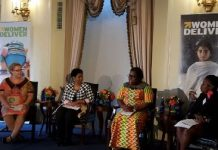 Nana Oye Lithur Minister of Gender, championing the Ghanaian gender agenda at a global forum