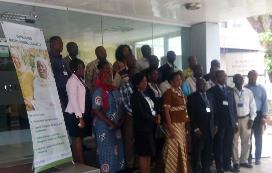 Group photo of participants at the stakeholders' engagement and launch agriculture research network