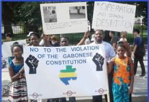 Gabonese-Americans march